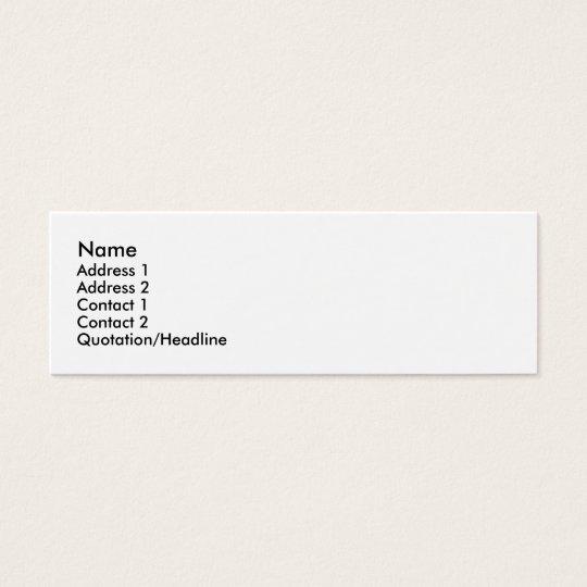 Bleeding-heart Mini Business Card