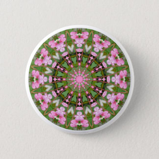 Bleeding Heart Nature, Flower-Mandala 05.f Pinback Button