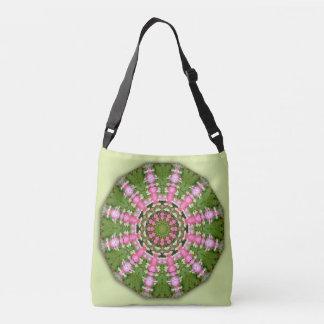 Bleeding Heart Nature, Flower-Mandala Crossbody Bag