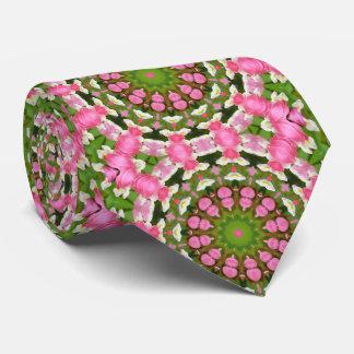 Bleeding Heart Nature, Flower-Mandala Neck Tie