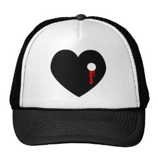 Bleeding Heart Outta Love Hat Trucker Hats