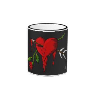 Bleeding Heart Ringer Coffee Mug