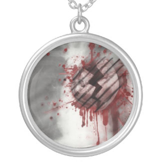 Bleeding Heart Round Pendant Necklace