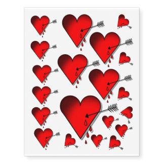 Bleeding heart temp tattoos