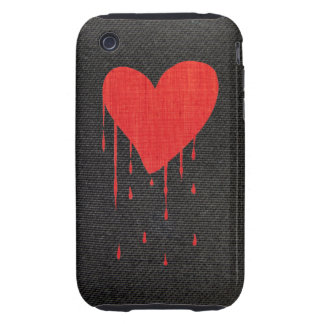 Bleeding Heart Tough iPhone 3 Case