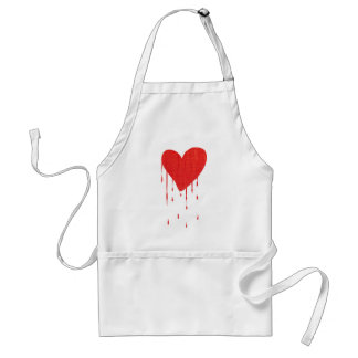 Bleeding Heart (white) Adult Apron