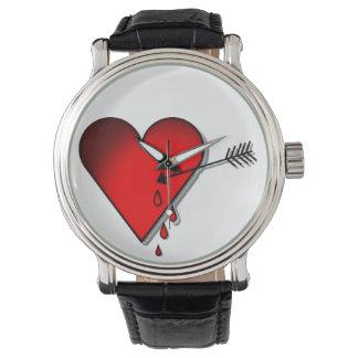 Bleeding heart wristwatch