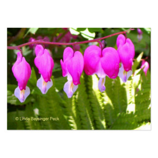 Bleeding Hearts Floral Large Business Card