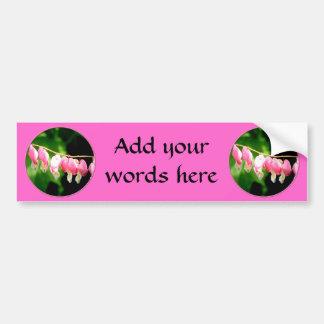 Bleeding Hearts flower Bumper Sticker