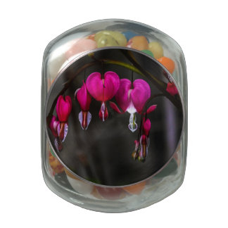 Bleeding Hearts Flower Jelly Belly Candy Jar
