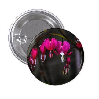Bleeding Hearts Flower Pinback Button