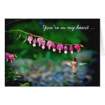 Bleeding Hearts Hummingbird In My Heart Stationery Note Card