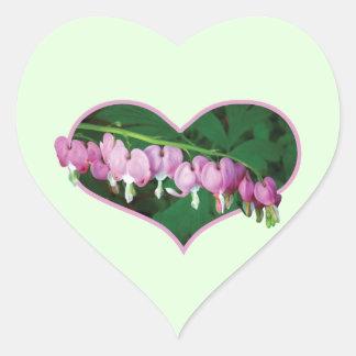 Bleeding Hearts in Heart Sticker