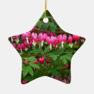 Bleeding Hearts Nature, Photo Ceramic Ornament