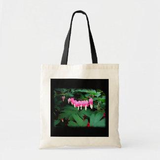Bleeding Hearts. Pink Flowers. Bags