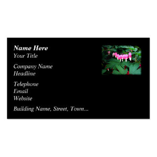 Bleeding Hearts. Pink Flowers. Business Card