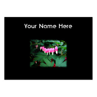 Bleeding Hearts. Pink Flowers. Large Business Card