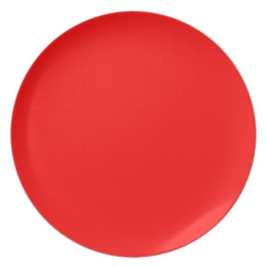Bleeding Hearts Red Dinner Plate