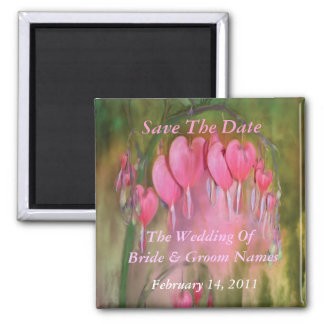 Bleeding Hearts Save-The-Date Wedding Magnet