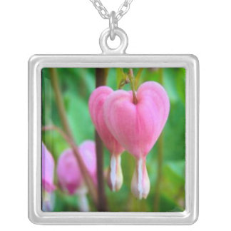 Bleeding Hearts Silver Necklace