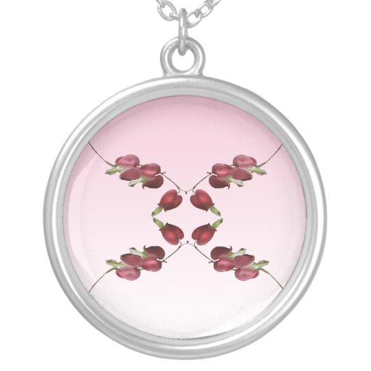 Bleeding Hearts Silver Plated Necklace