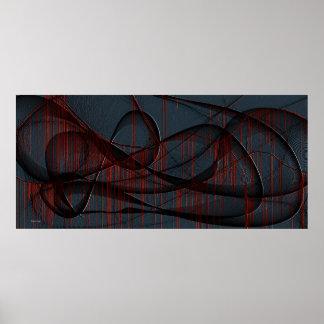 Bleeding Infinity Goth Fine Art Poster