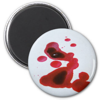 Bleeding out 2 inch round magnet