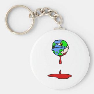 bleeding planet keychain