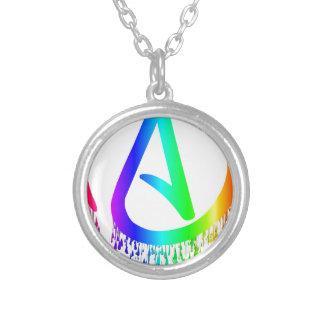 bleeding rainbow Atheist symbol Round Pendant Necklace