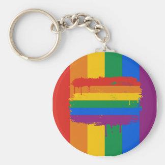 Bleeding Rainbow Keychain