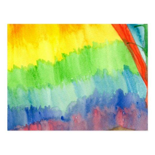 Bleeding Rainbow Postcard