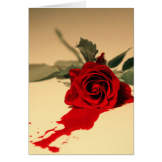 Bleeding Red Rose Greeting Card