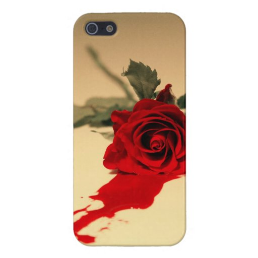 bleeding red rose iphone 5 5s case zazzle. Black Bedroom Furniture Sets. Home Design Ideas