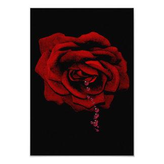 Bleeding Rose 3.5x5 Paper Invitation Card