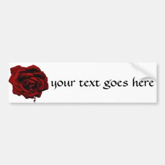 Bleeding Rose Bumper Sticker