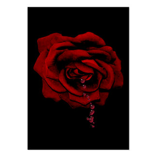 Bleeding Rose Large Business Cards (Pack Of 100)