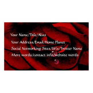 Bleeding Rose Business Cards