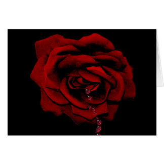 Bleeding Rose Card