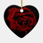 Bleeding Rose Christmas Ornament