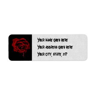 Bleeding Rose Custom Return Address Labels