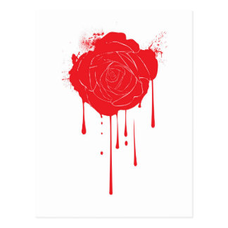 Bleeding Rose Postcard