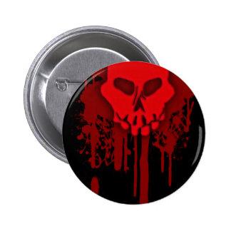 bleeding skull 2 inch round button