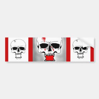 Bleeding Skull Bumper Sticker