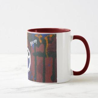 """Bleep"" space graffiti mug"