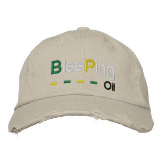 Bleeping Oil Embroidered Baseball Cap