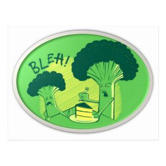 Bleh Broccoli Rejecting Cake Postcard