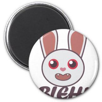 Bleh Rabbit 2 Inch Round Magnet