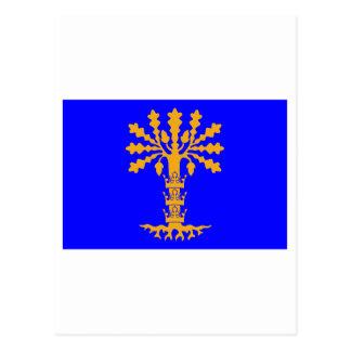 Blekinge län flag postcard