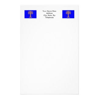 Blekinge län flag stationery paper