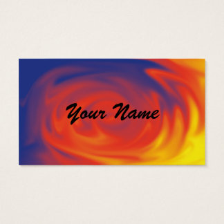 Blend of colors, a professional business cards